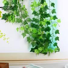 aliexpress com buy green artificial silk ivy leaf garland