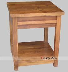 teak wood side table wooden side table in teak wood natural wood finish bed side online