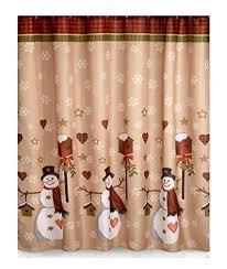 Country Bathroom Shower Curtains Snowman Shower Curtain Sets Comfy
