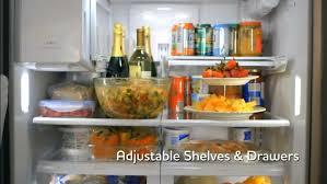 frigidaire glass door fridge frigidaire fghf2366pf 36 inch french door refrigerator with
