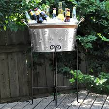 Oval Party Beverage Tub by Galvanized Beverage Tub With Stand Remarkable On Home Decorating