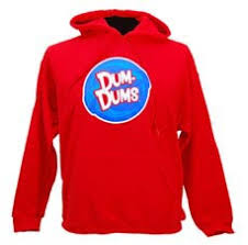 dum dums hooded sweatshirt save wraps for stuff