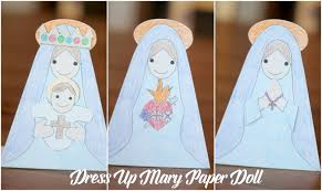 paper mary dolls free printable u2013 do small things with love