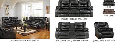 Reclining Sofa Set Buy Direct Linebacker Durablend Power Three