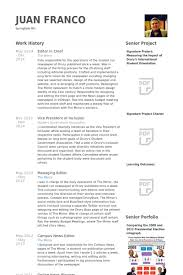 Photo Editor Resume Sample by Editor In Chief Resume Samples Visualcv Resume Samples Database