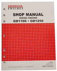 american honda motor co inc honda gd1100 gd1250 engine service repair shop manual ebay