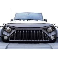 matte black jeep 2017 matte black gladiator vader grille for jeep wrangler jk 2007 2017