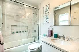 Building A Shower Bench San Francisco Tile Shower Bench Bathroom Transitional With Built