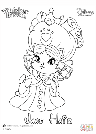whisker haven jane hair princess coloring page free printable