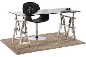 bureau en acier bureau en verre et acier design king design sur sofactory