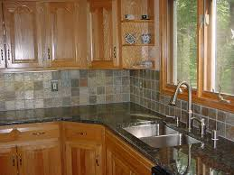 inspiring natural stone tile kitchen backsplash with grey color