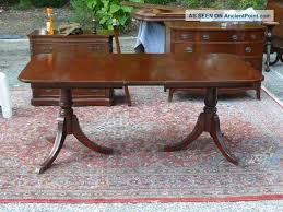 large oval mahogany double pedestal dining room table with awesome we have this my great grandmothers antique mahogany duncan