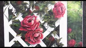 trellis roses roses on a trellis oil painting demo youtube