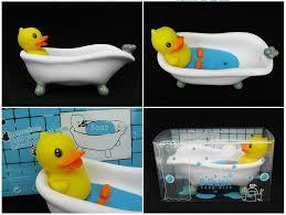 2017 ems free creative b duck soap holder pvc duck bathtub model