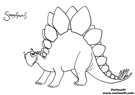 stegosaurus coloring pages getcoloringpages com