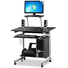 Small Corner Pc Desk Go2buy Small Spaces Computer Desk With Keyboard Tray Drawer And