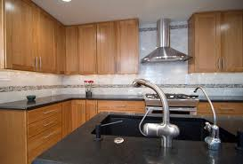 splashy cherry cabinets look cleveland traditional kitchen
