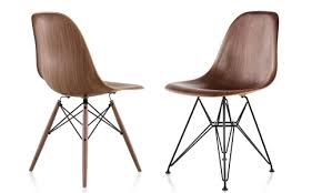 designswelove eames molded plastic side chair now in molded wood