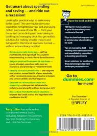 holidays for dummies living well in a economy for dummies tracy barr 9780470401170