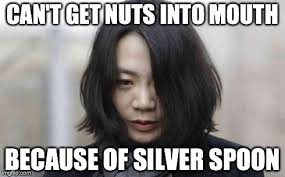 Silver Spoon Meme - korean airline heiress to have silver spoon removed imgflip