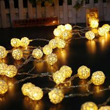 rattan ball fairy lights wholesale warm white fairy light holiday light rattan ball led