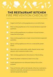 restaurant kitchen fire prevention checklist strike first