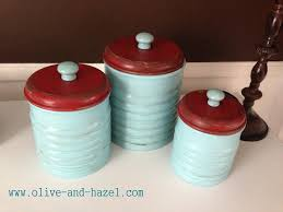 100 red canisters kitchen decor i love white cabinets with