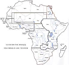 africa continent map clickable map of the continent