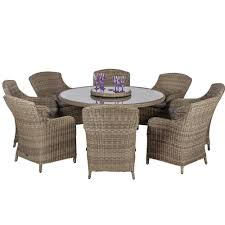 royalcraft wentworth 8 seat round imperial rattan dining set
