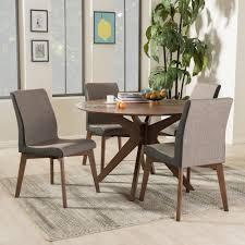 mid century modern dining room table baxton studio kimberly mid century modern walnut wood round 5