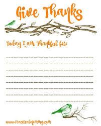 printable gratitude list for thanksgiving