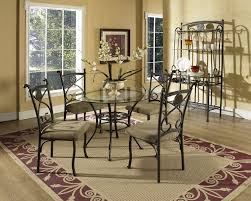 Dining Table Glass Top Furniture Rectangle Glass Top Dining Top Table On Cream Fur Rug
