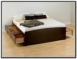 luxury king size platform bed frame with storage u2014 modern storage