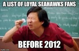 Seahawks Bandwagon Meme - dating a seahawks fan meme