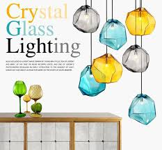 Colorful Pendant Lights Colorful Crystal Glass Stone Pendant Light By Italy Designer For