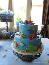 baby shower cake ocean theme beach themed decorated cakes images