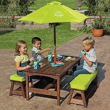 Kidkraft Table With Primary Benches 26161 Kids Table And Bench Set Foter