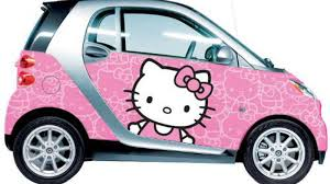 pink cars hello kitty wraps for smart cars not a wise idea roadshow