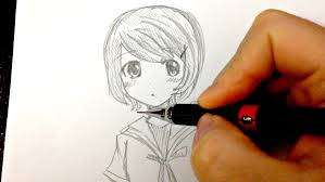 draw a short hair 如何畫動畫人物 短頭髮畫法分享 youtube