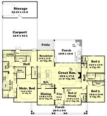 Patio House Plans Country Style House Plan 4 Beds 2 50 Baths 2420 Sq Ft Plan 430 113