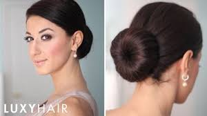 buns hair how to low bun