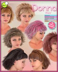 donna hair biscuits donna hair 3d figure assets biscuits