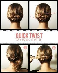 Hairstyles To Do For Easy Hairstyles For Short Hair To Do At Home