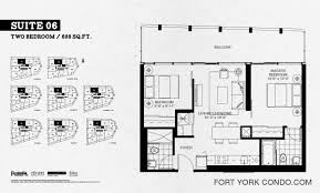 2 Bedroom Condo Floor Plan Garrison Point Condos Preconstruction Fort York Condo
