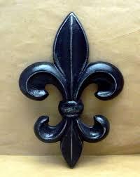 fleur de lis cast iron fdl wall art black shabby chic home decor