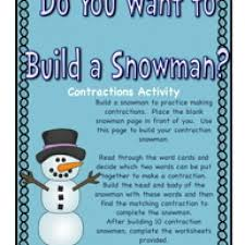 do you want to build a snowman contractions activity