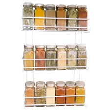 Wall Mounted Kitchen Shelves by Amazon Com Evelots 3 Tier Wall Mounted Spice Rack White Kitchen