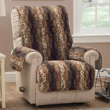 Animal Print Chairs Living Room by Prowl Brown Faux Fur Animal Print Furniture Protectors