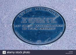 deco plaque metal plaque at the art deco anzac memorial in hyde park in sydney stock