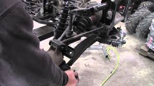 how to remove rear cv axle from polaris sportsman atv youtube